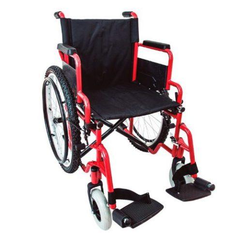 silla ruedas rojo
