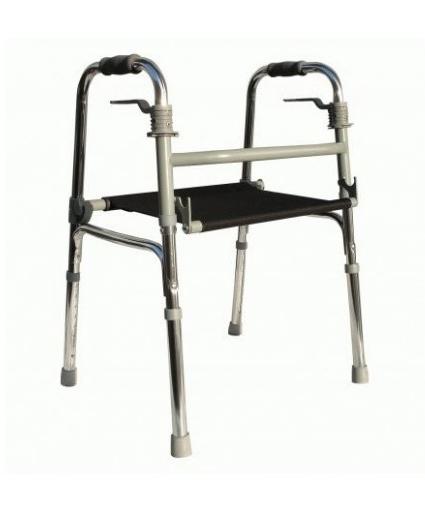 andador plegable asiento lona